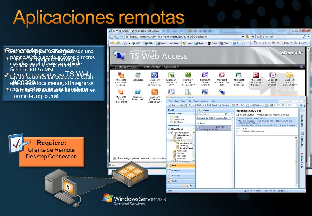 Cliente de Remote Desktop Connection