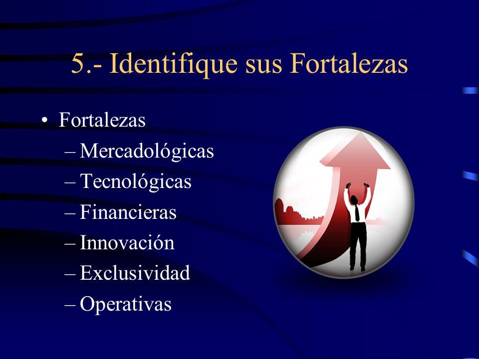 5.- Identifique sus Fortalezas