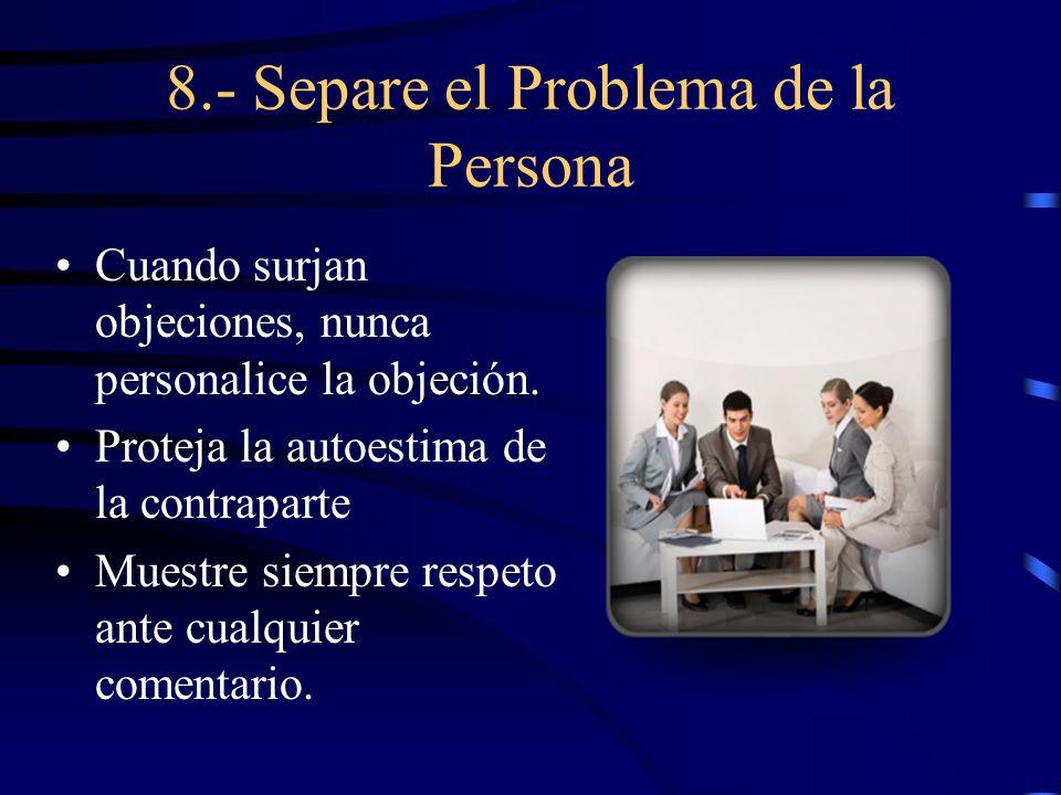 8.- Separe el Problema de la Persona