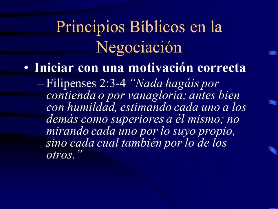 Principios Bíblicos en la Negociación