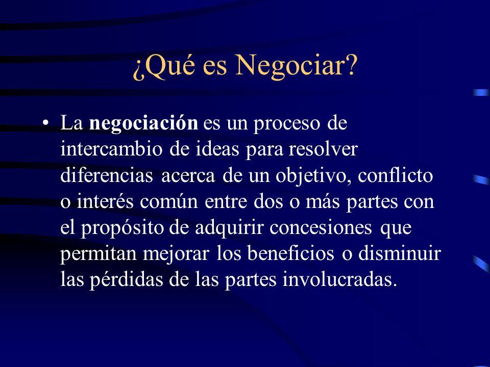 ¿Qué es Negociar