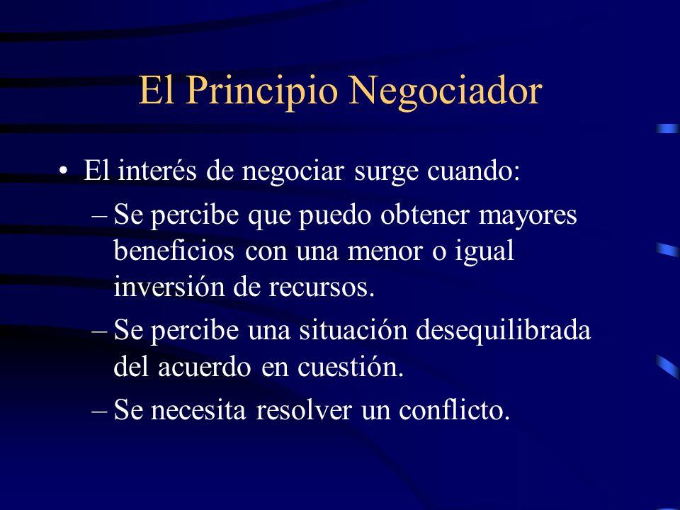El Principio Negociador