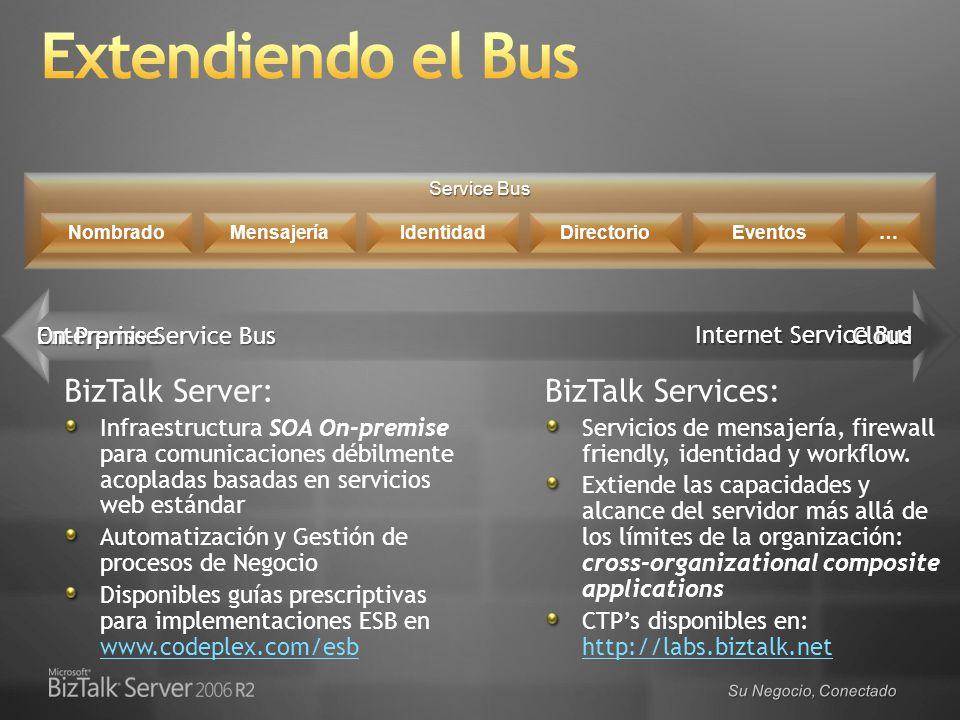 Extendiendo el Bus BizTalk Server: BizTalk Services: