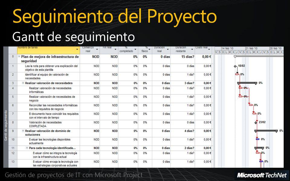 Seguimiento del Proyecto