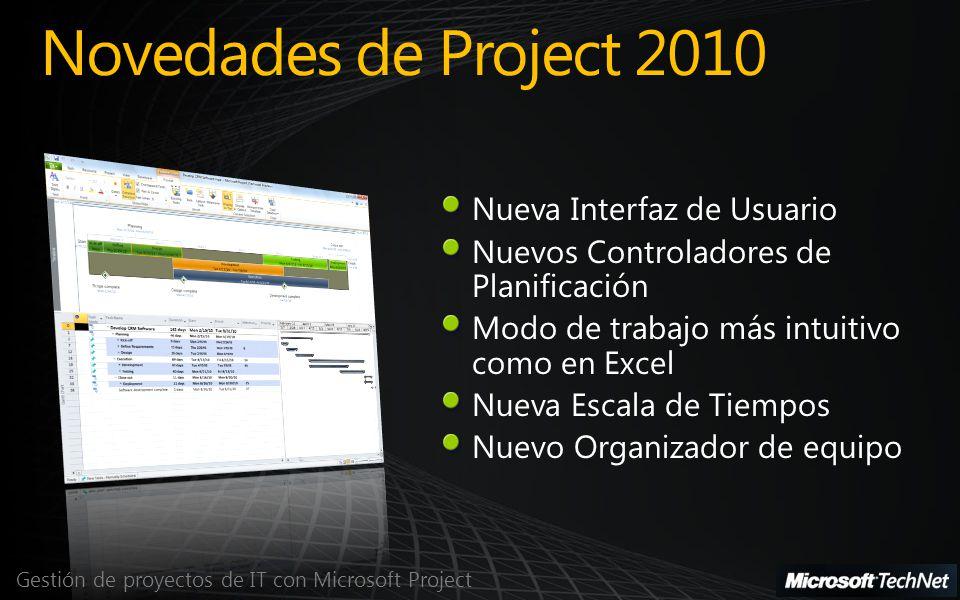 Novedades de Project 2010 Nueva Interfaz de Usuario