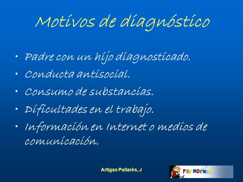 Motivos de diagnóstico