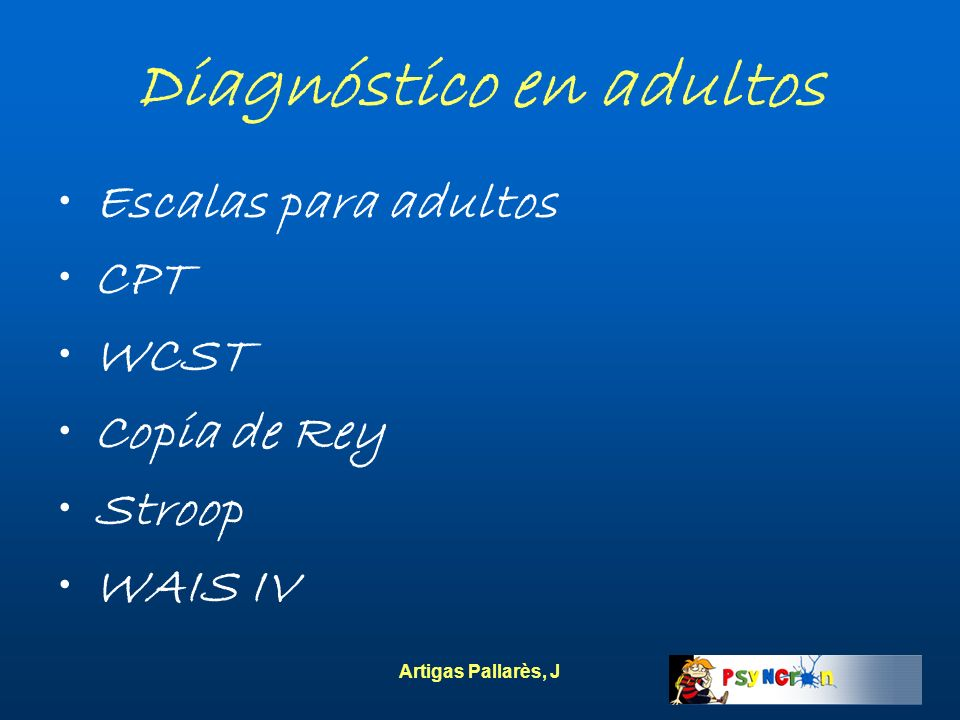 Diagnóstico en adultos