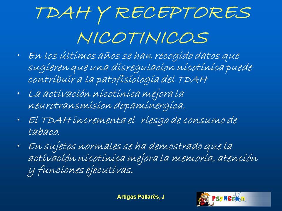 TDAH Y RECEPTORES NICOTINICOS