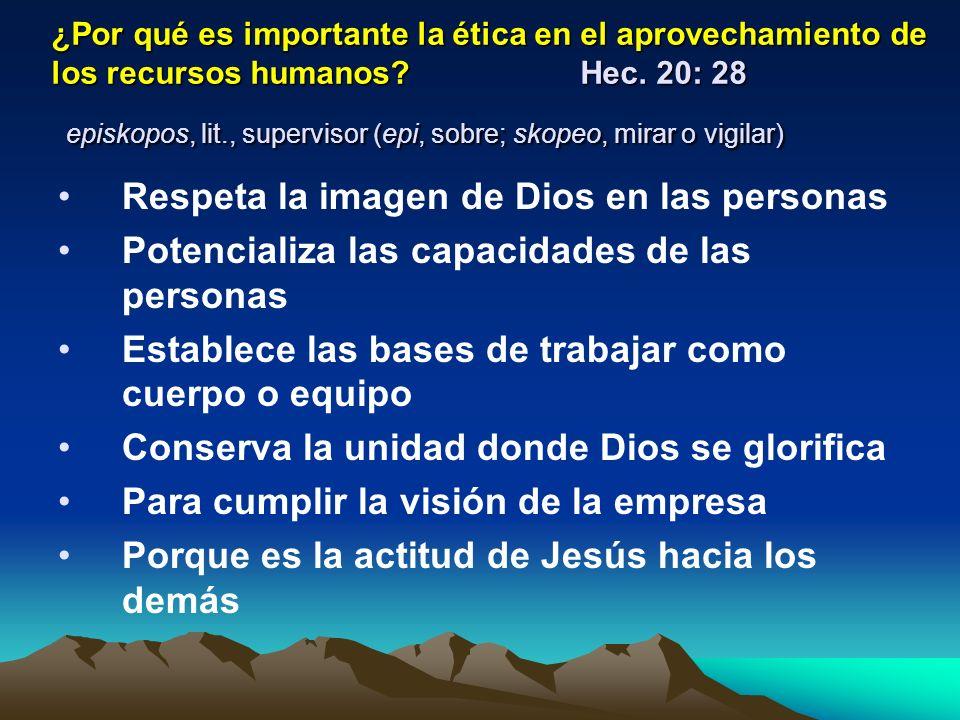 Respeta la imagen de Dios en las personas