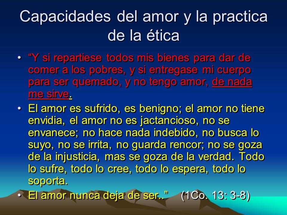 Capacidades del amor y la practica de la ética