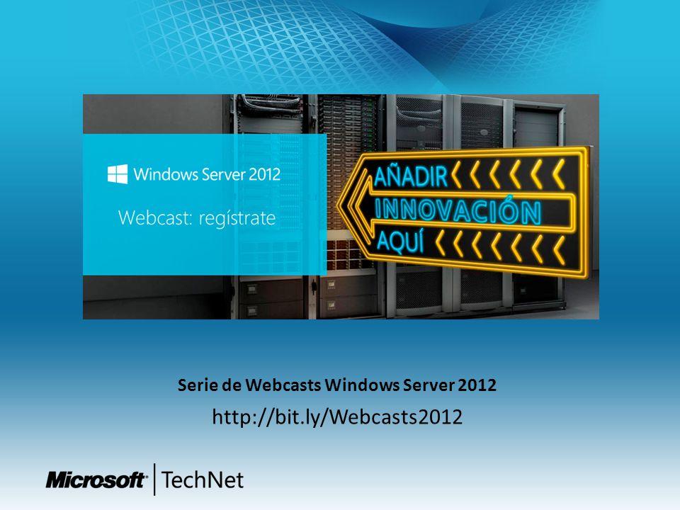 Serie de Webcasts Windows Server 2012