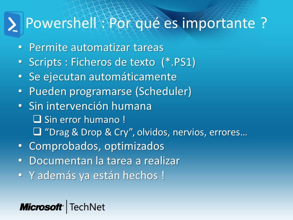 Powershell : Por qué es importante