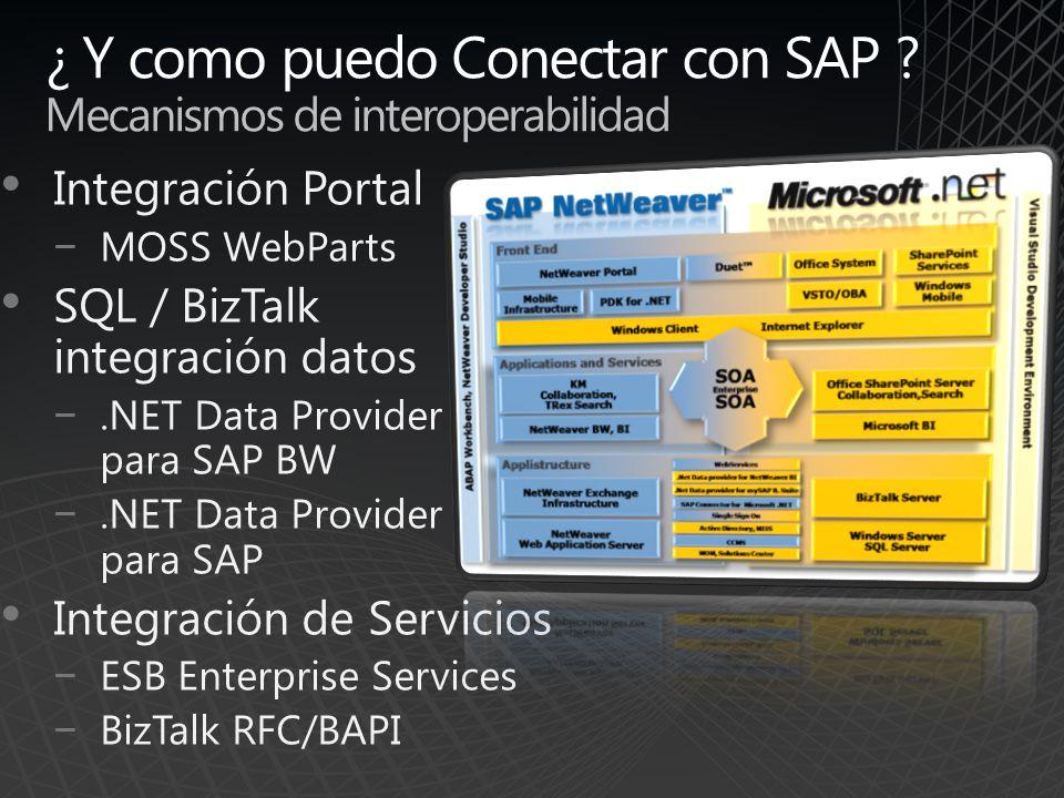 ¿ Y como puedo Conectar con SAP Mecanismos de interoperabilidad