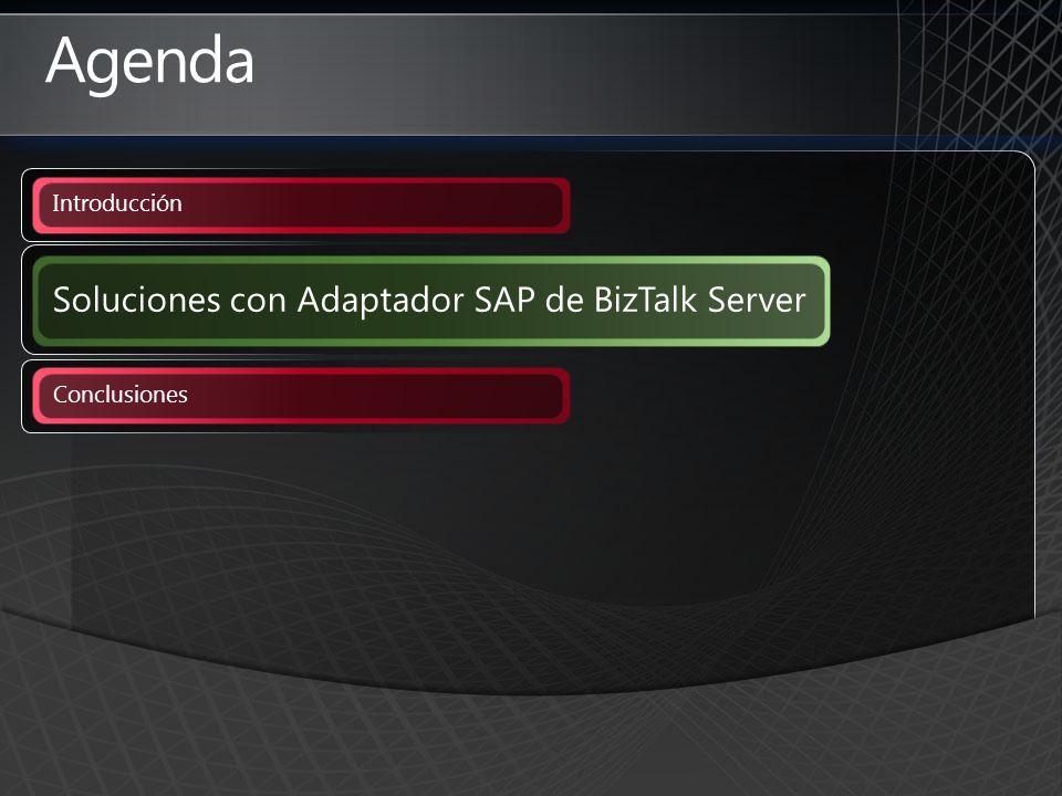 Agenda Soluciones con Adaptador SAP de BizTalk Server Introducción