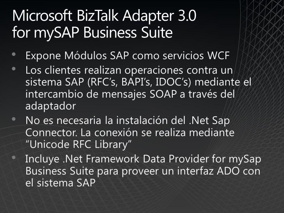 Microsoft BizTalk Adapter 3.0 for mySAP Business Suite