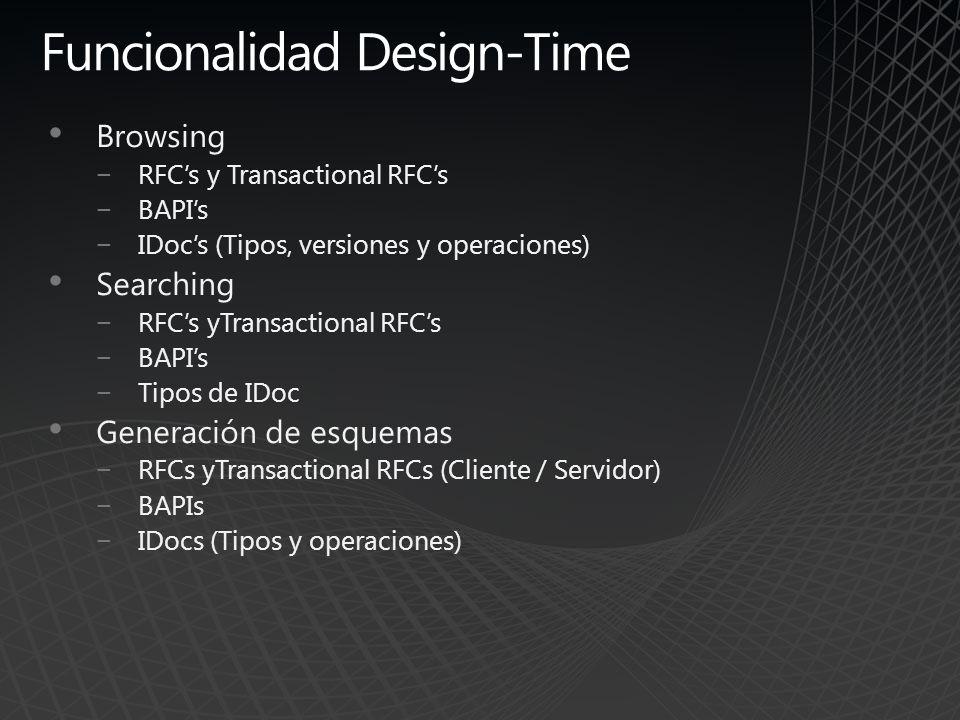 Funcionalidad Design-Time