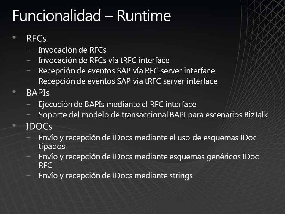 Funcionalidad – Runtime
