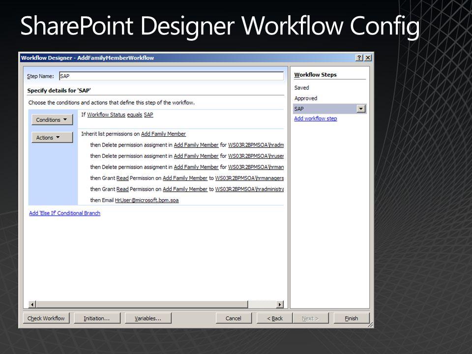 SharePoint Designer Workflow Config