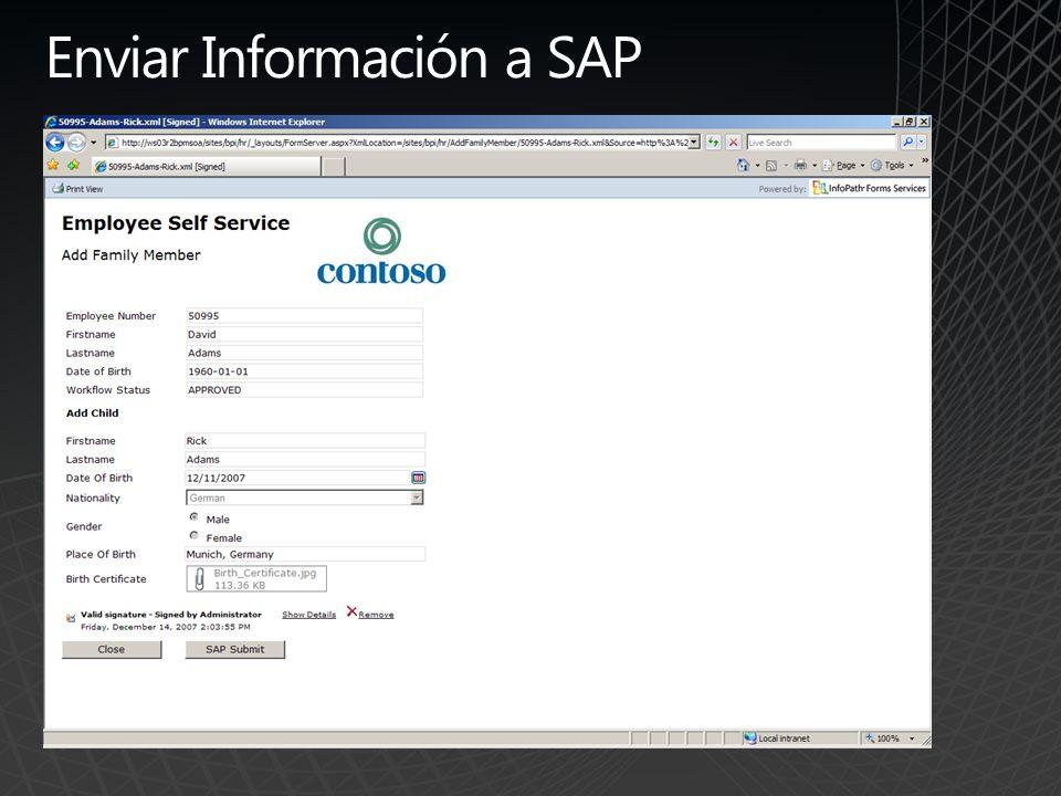 Enviar Información a SAP