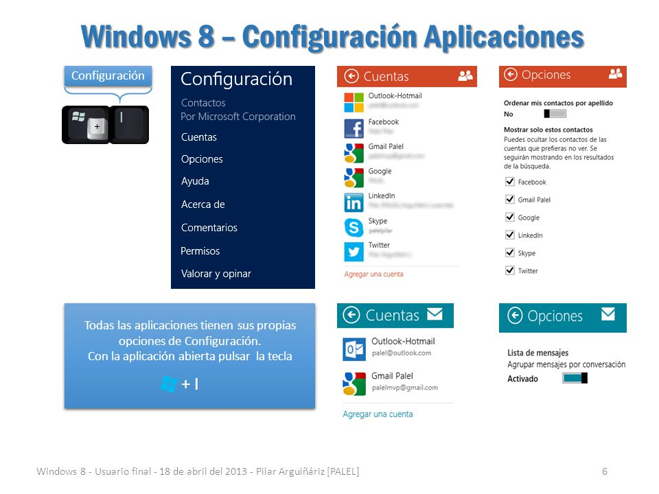 Windows 8 – Configuración Aplicaciones