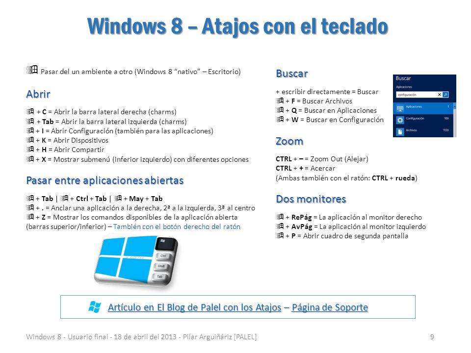 Windows 8 – Atajos con el teclado