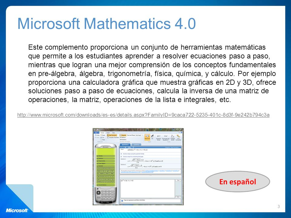 Microsoft Mathematics 4.0