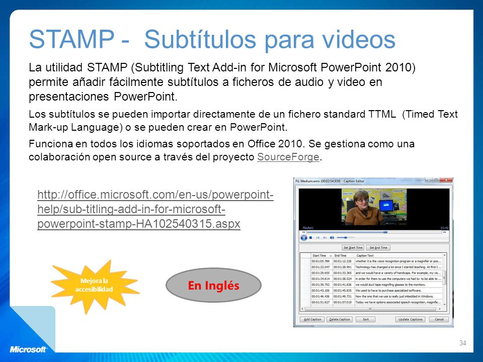 STAMP - Subtítulos para videos