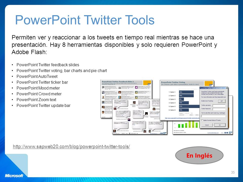 PowerPoint Twitter Tools