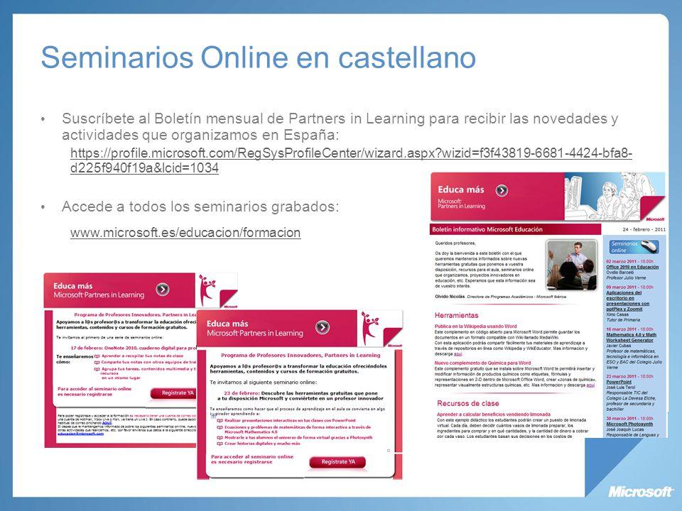 Seminarios Online en castellano
