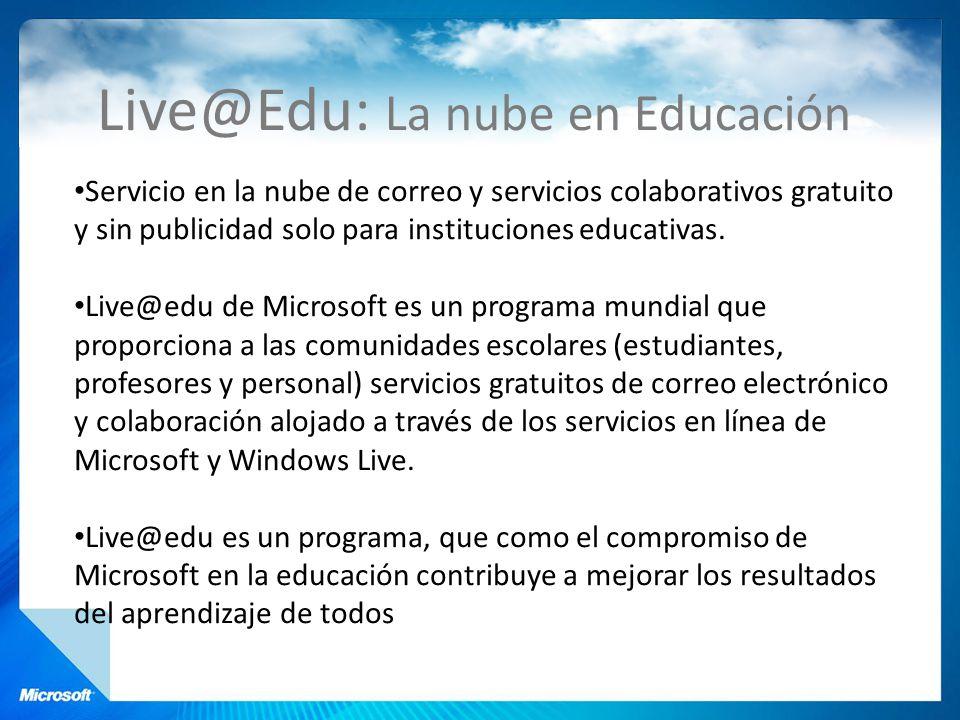Live@Edu: La nube en Educación