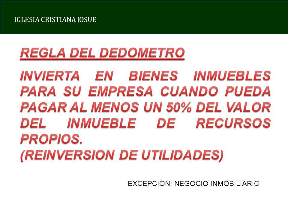 DEL INMUEBLE DE RECURSOS PROPIOS. (REINVERSION DE UTILIDADES)