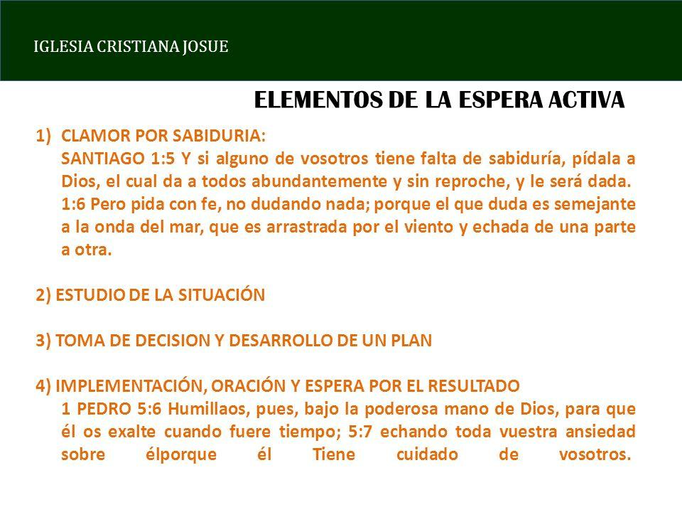 ELEMENTOS DE LA ESPERA ACTIVA