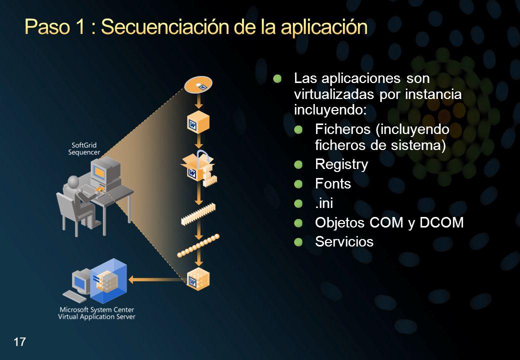 Paso 1 : Secuenciación de la aplicación