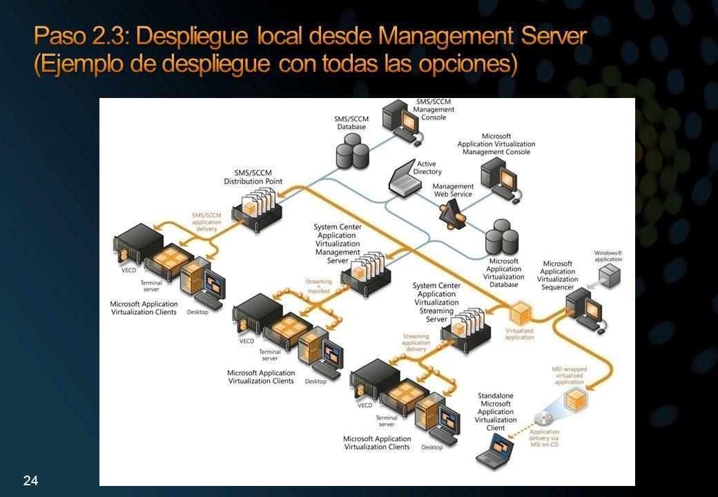 Paso 2.3: Despliegue local desde Management Server (Ejemplo de despliegue con todas las opciones)
