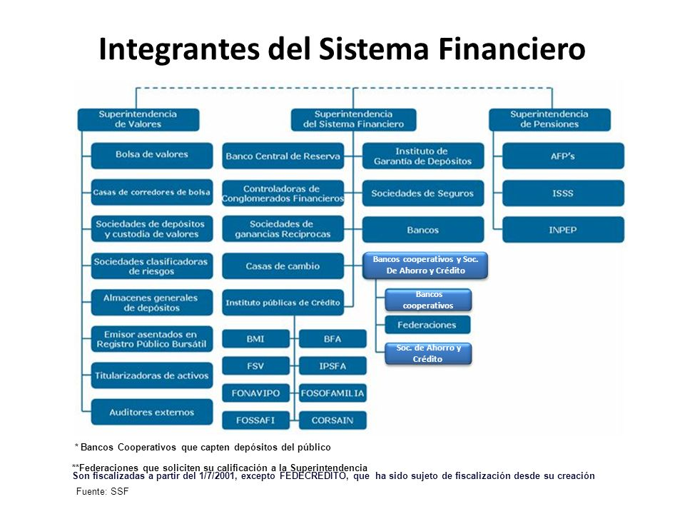Integrantes del Sistema Financiero