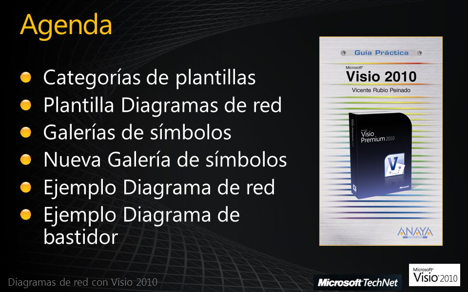 Agenda Categorías de plantillas Plantilla Diagramas de red