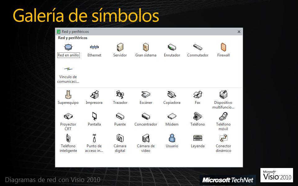 Galería de símbolos Diagramas de red con Visio 2010