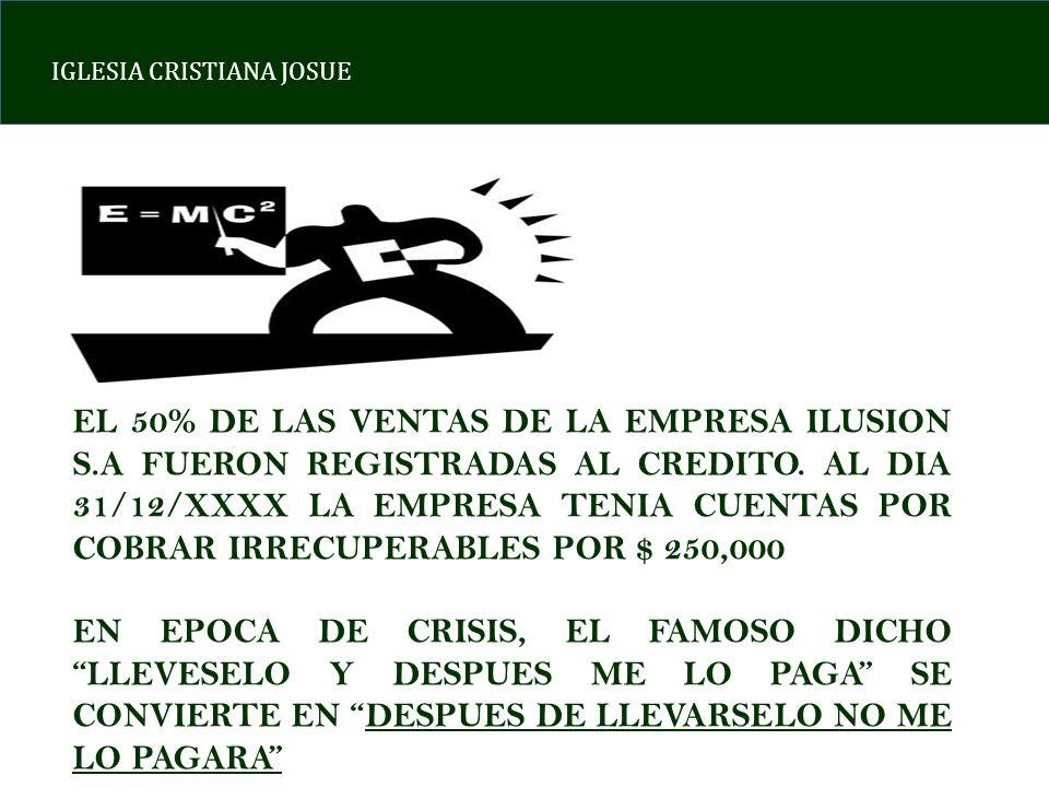 EL 50% DE LAS VENTAS DE LA EMPRESA ILUSION S