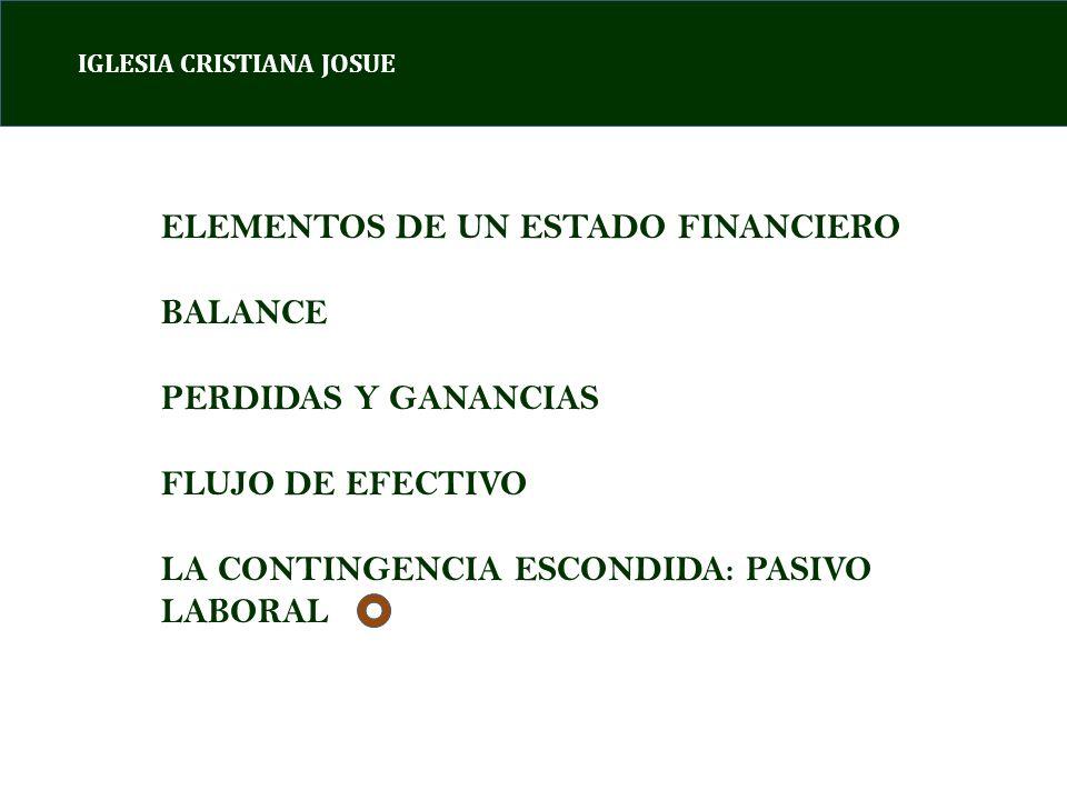 ELEMENTOS DE UN ESTADO FINANCIERO BALANCE PERDIDAS Y GANANCIAS