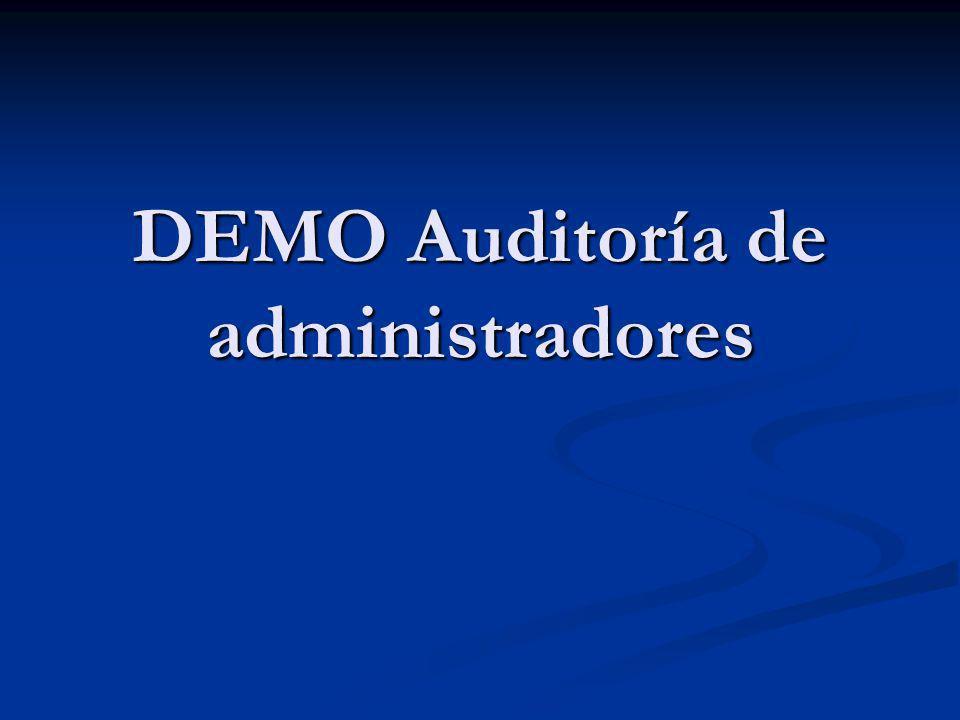 DEMO Auditoría de administradores