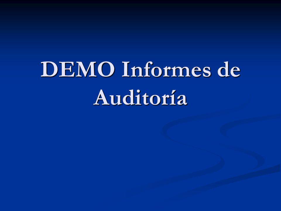 DEMO Informes de Auditoría