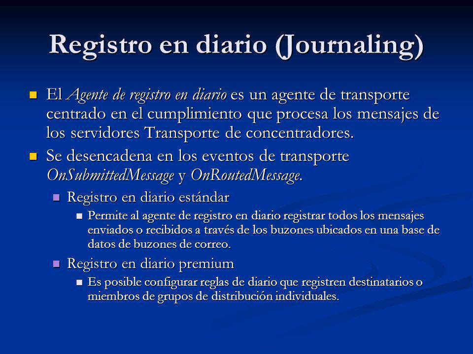 Registro en diario (Journaling)
