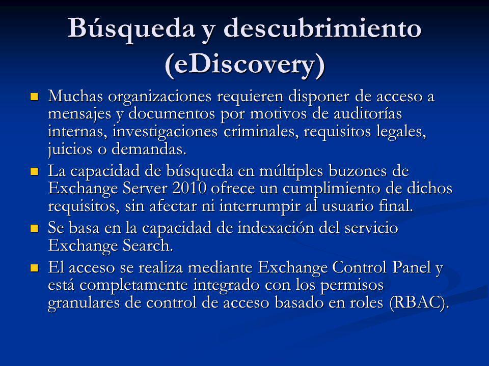 Búsqueda y descubrimiento (eDiscovery)