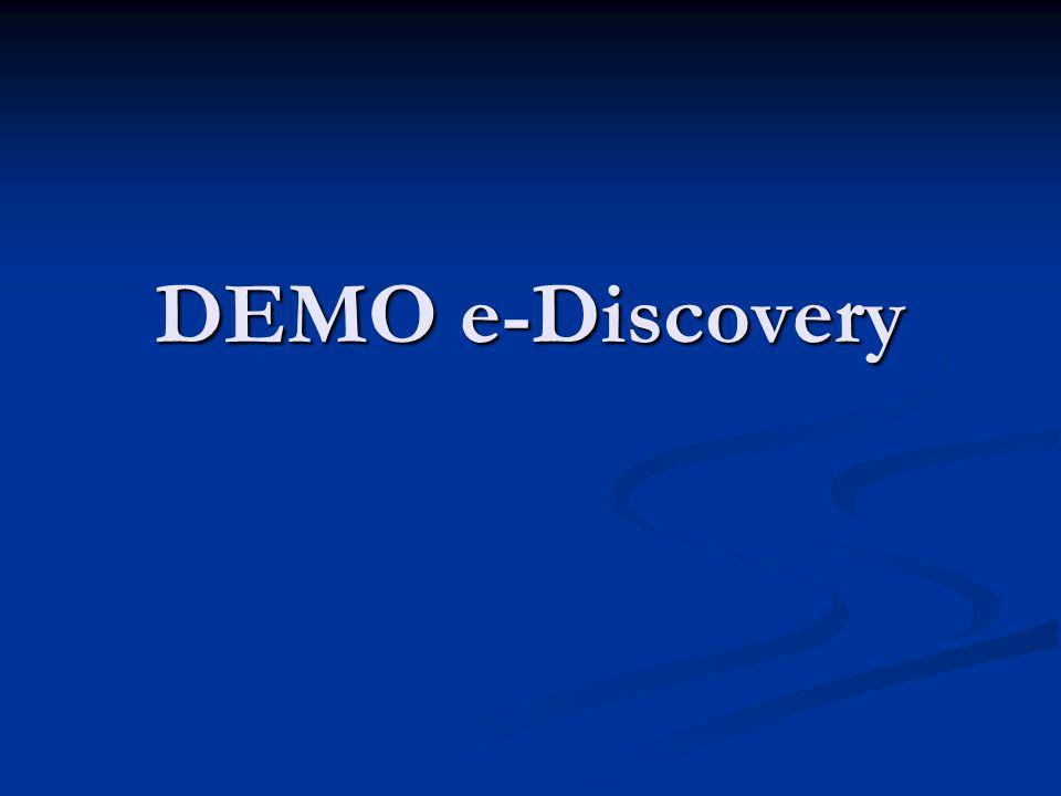 DEMO e-Discovery