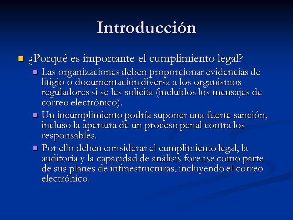 Introducción ¿Porqué es importante el cumplimiento legal