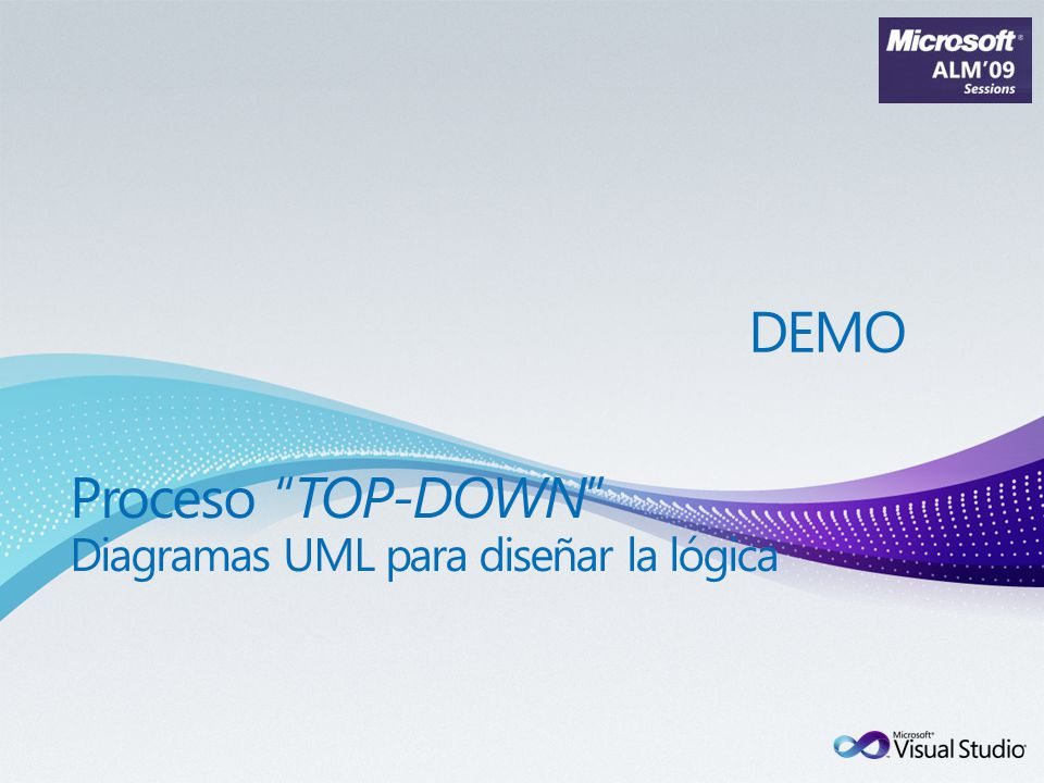 Proceso TOP-DOWN Diagramas UML para diseñar la lógica