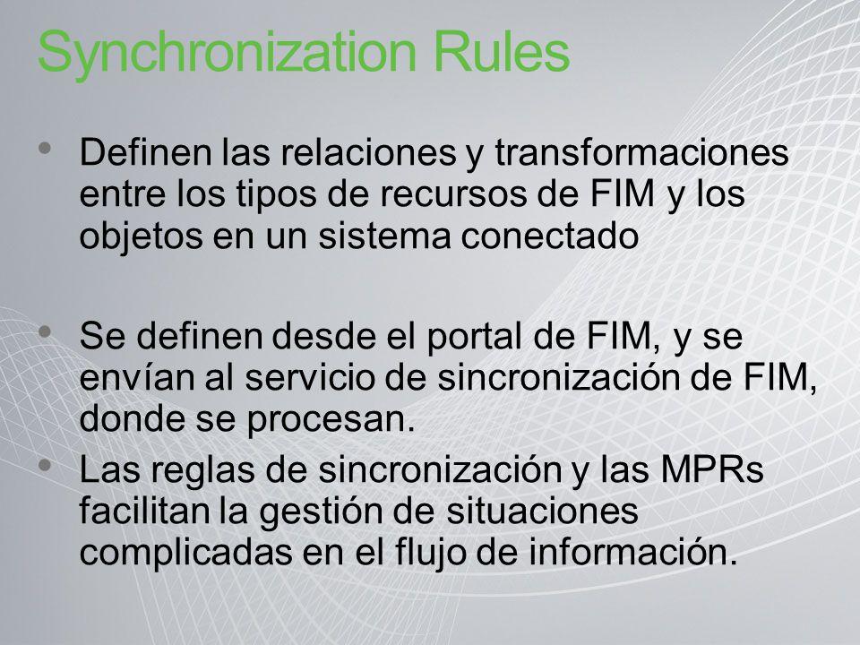 Synchronization Rules