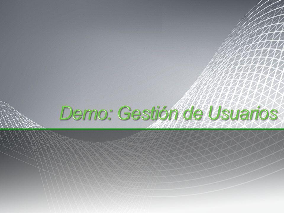 Demo: Gestión de Usuarios