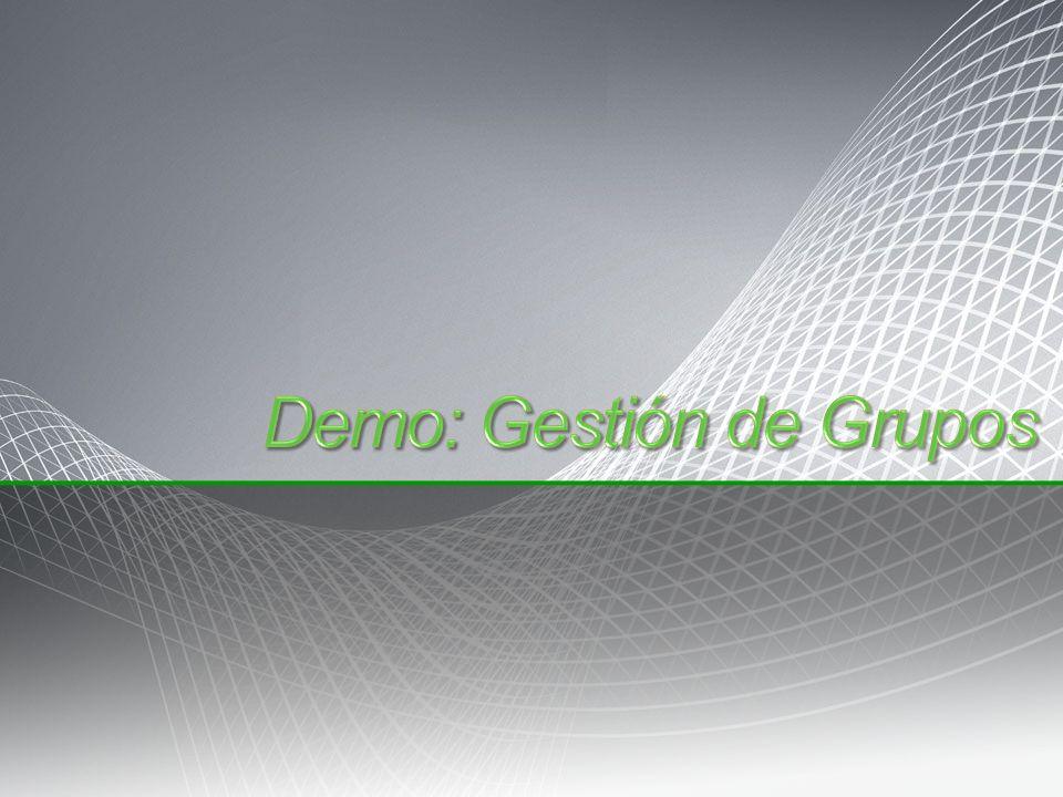 Demo: Gestión de Grupos