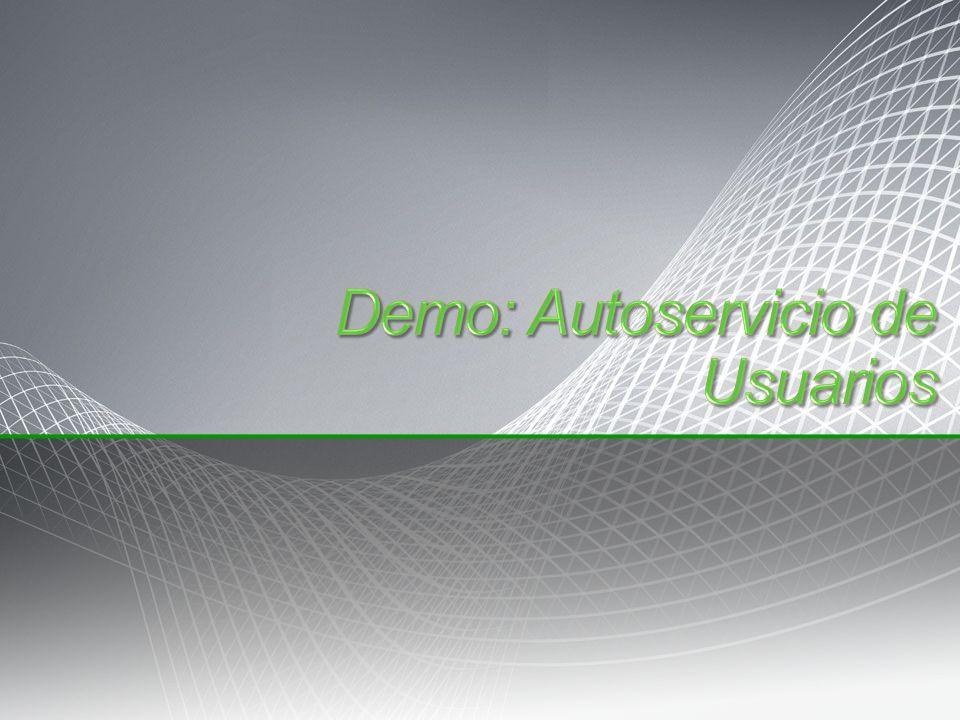 Demo: Autoservicio de Usuarios